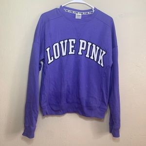 VS PINK PURPLE FLEECE SWEATER SZ XS